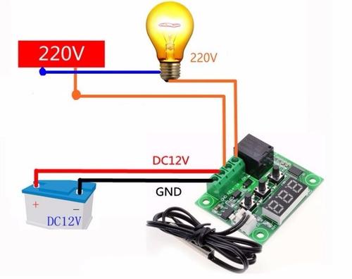 termostato termometro digital 12v controlador de temperatura