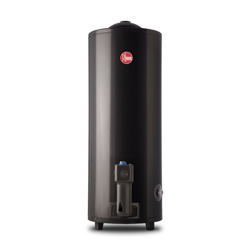 termotanque 80 litros rheem a gas gris carga superior