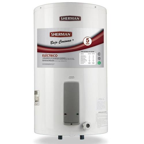 termotanque 85 litros eléctrico sherman carga inferior