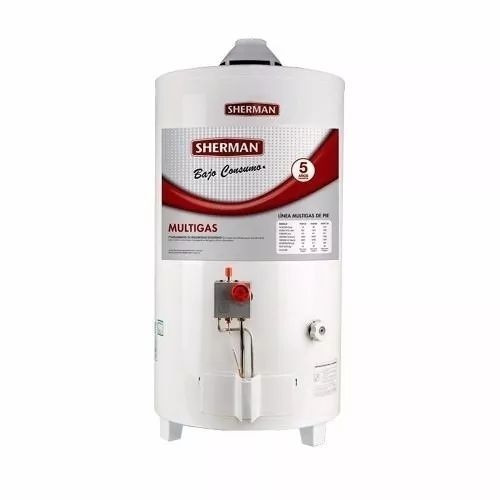 termotanque a gas 50 litros sherman tpgp050 carga superior