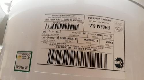 termotanque a gas marca rheem 50 lts - de colgar