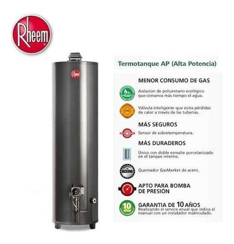 termotanque a gas rheem alta pot 160 lt