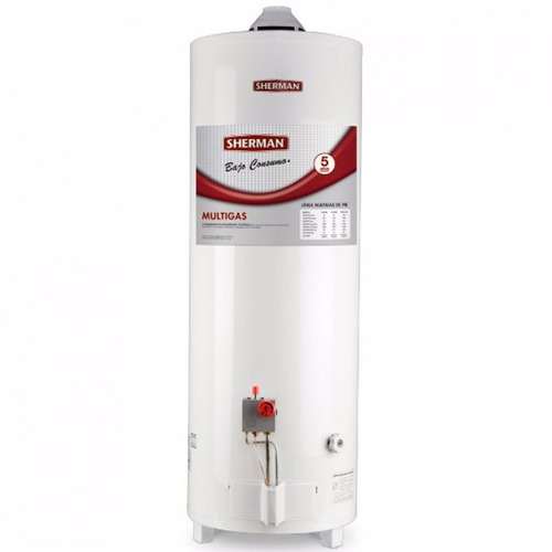 termotanque a gas sherman tpgp050 50 lts pie superior dmaker