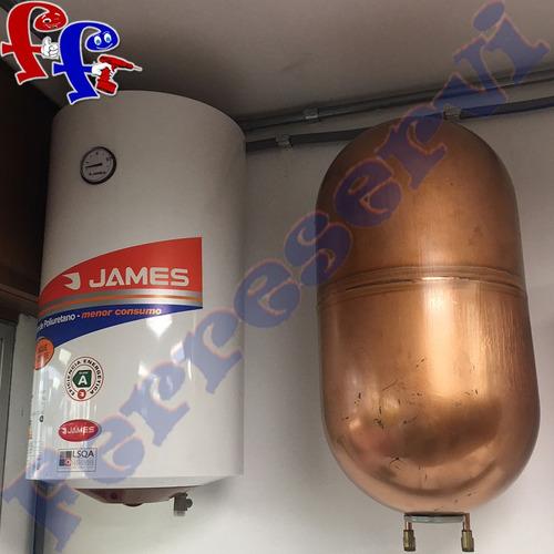 termotanque calefon 40 lt cilindrico cobre james categoria