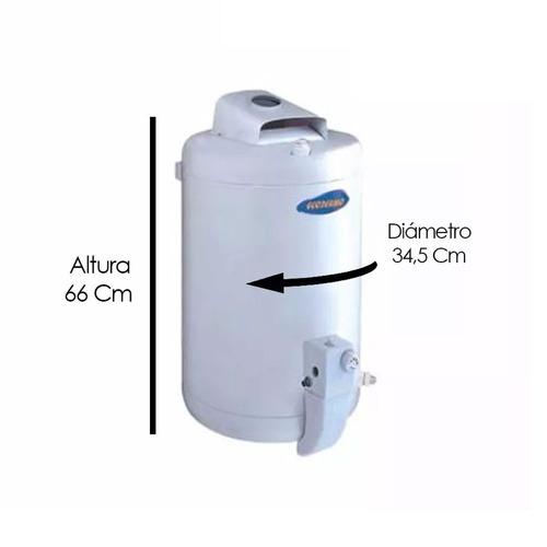 termotanque ecotermo 23lts cs a gas alta 12 cuotas redondo