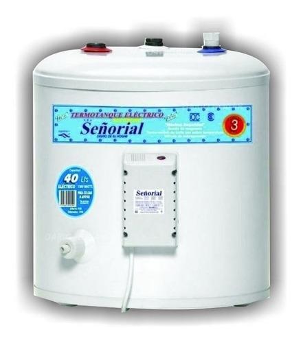 termotanque electrico 40 litros señorial para colgar zafiro
