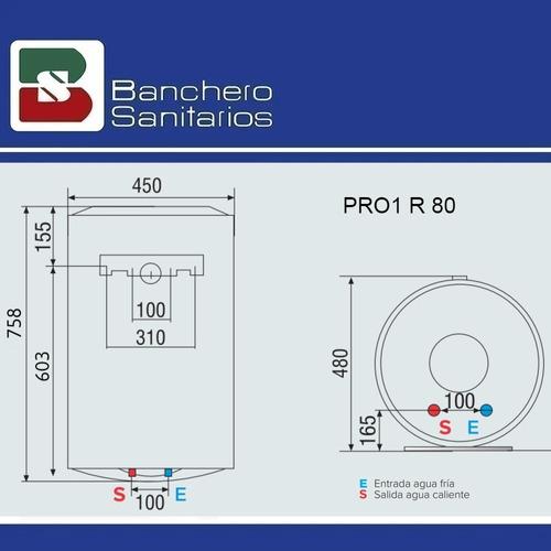 termotanque eléctrico ariston pro1 r 80 litros de colgar p