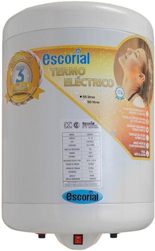 termotanque electrico escorial de 55 lts p/colgar gtia 3 año