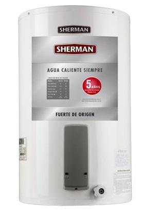 termotanque electrico inferior sherman 55 l tecc055eshk2