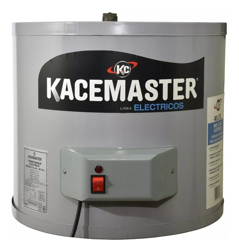 termotanque electrico kacemaster 40 lts conexion inferior cu