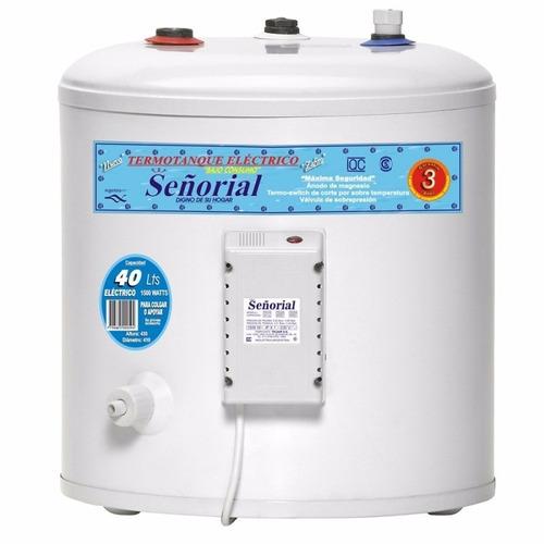 termotanque electrico señorial 40 lts. para colgar o apoyar