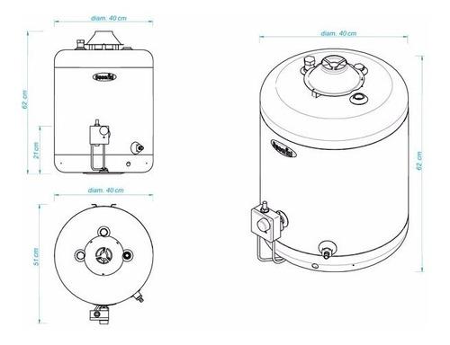 termotanque escorial 45 litros multigas de colgar cuotas