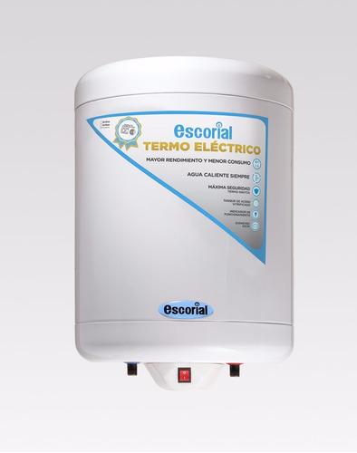 termotanque escorial eléctrico 55 litros inferior de colgar