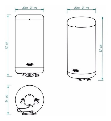termotanque escorial electrico 90 litros de colgar cuotas
