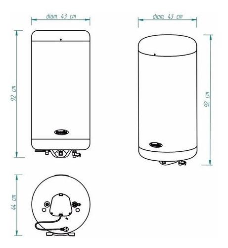 termotanque escorial electrico 90 litros de colgar ¡oferta!