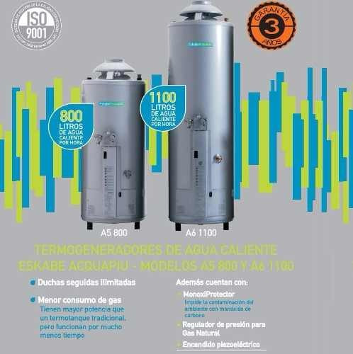 termotanque eskabe acquapiu a6 1100 lts/h gn