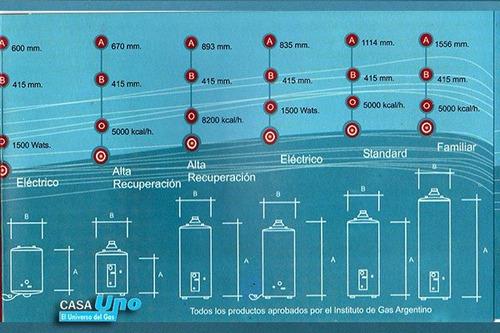 termotanque gas dixell 120 litros standard