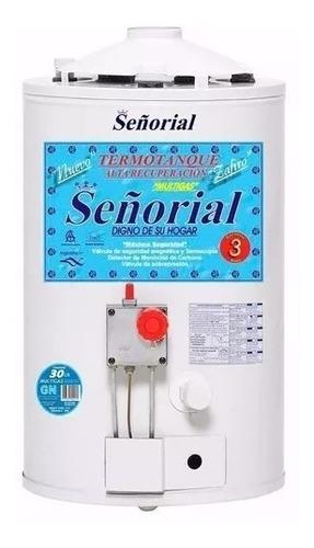 termotanque gas señorial zafiro 30 litros
