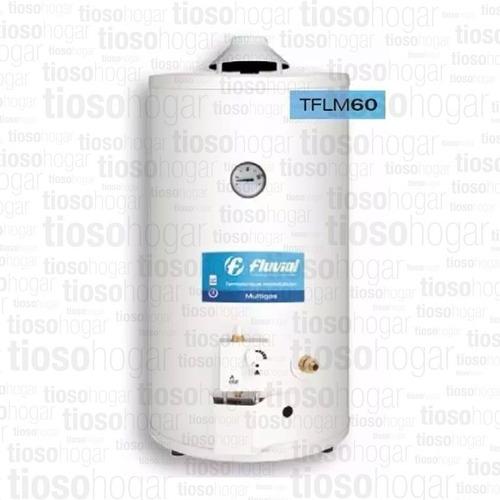 termotanque multigas fluvial tflm 60 lts colgar apoyar gas