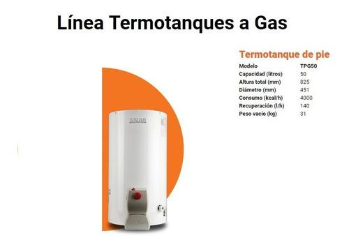 termotanque saiar de 50 l multigas de pie residencial rheem