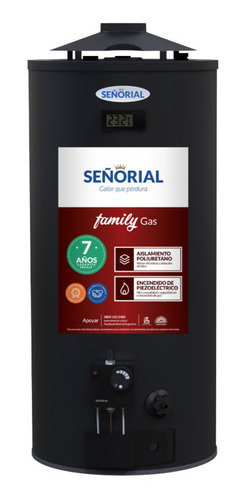 termotanque señorial black a gas 50 lts alta rec gratis pais