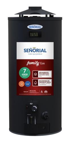 termotanque señorial black gas 50 lts alta rec. gratis pais