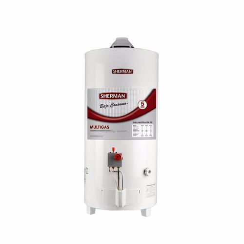 termotanque sherman 50 litros multigas carga superior