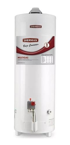 termotanque sherman 80 litros a gas de pie superior