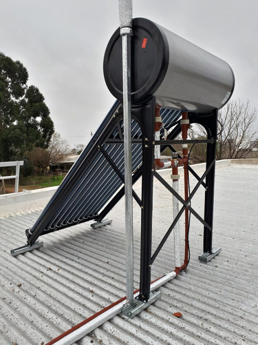 termotanque solar 120 lt + resistencia + anodo magn. + ctas