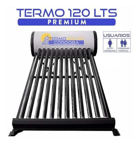 termotanque solar 120 lts atmosférico de acero galvanizado