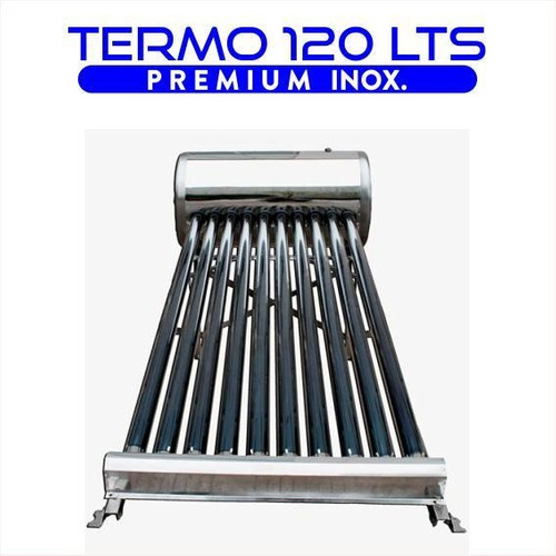 termotanque solar 120 lts atmosférico de acero inoxidable d