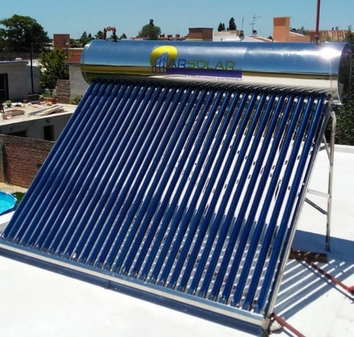 termotanque solar 150 lts acero inoxidable termosolar cba