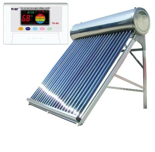 termotanque solar 150 lts controlador electronico acero inox