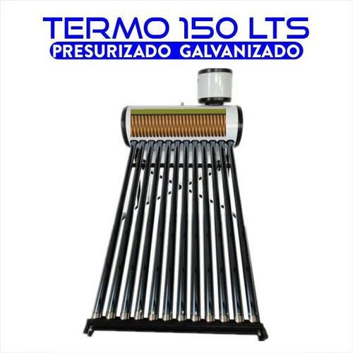 termotanque solar 150 lts presurizable de acero galvanizado