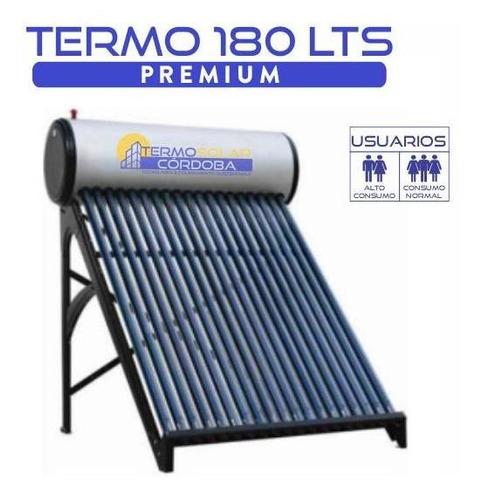 termotanque solar 180 lts atmosférico de acero galvanizado