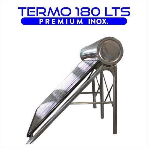 termotanque solar 180 lts atmosférico de acero inoxidable d