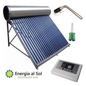 Termotanque Solar 200 Lts Acero Kit Eléctrico + Controlador