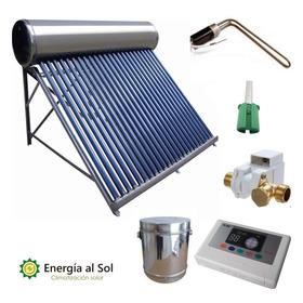 Termotanque Solar 200 Lts Súper Completo Controlador Eléctr