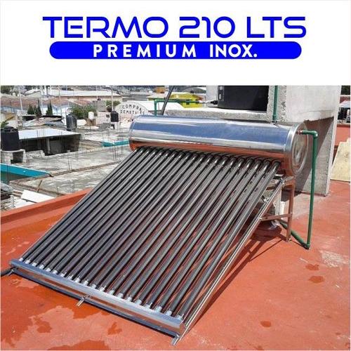 termotanque solar 210 lts atmosférico de acero inoxidable a