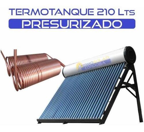 termotanque solar 210 lts presurizable de acero galvanizado