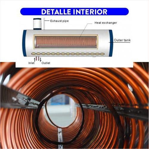 termotanque solar 210 lts presurizable de acero inoxidable