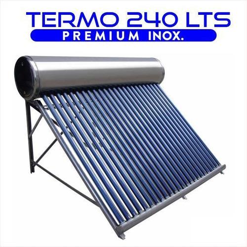 termotanque solar 240 lts atmosférico de acero inoxidable d