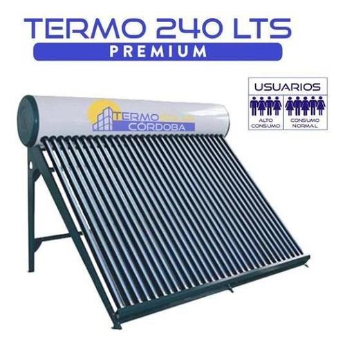 termotanque solar 250 lts atmosférico de acero galvanizado