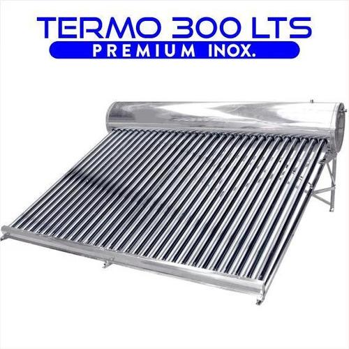 termotanque solar 300 lts atmosferico de acero inoxidable