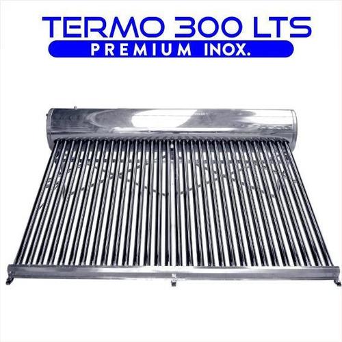 termotanque solar 300 lts atmosférico de acero inoxidable d