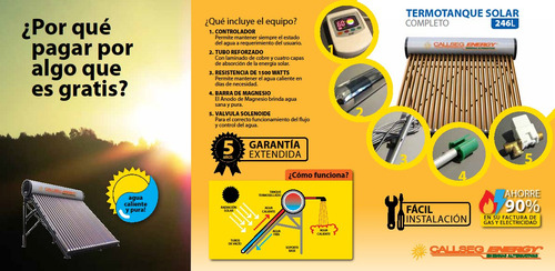 termotanque solar callseg energy 246 lts. full