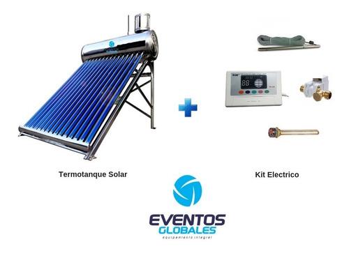 termotanque solar de 200 l. acero inox con kit electrico