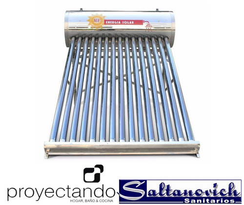 termotanque solar mf energía solar mf200 230 l 20 tubos