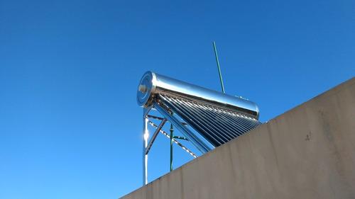 termotanque solar termo solar  220 lts acero inoxidable 100%