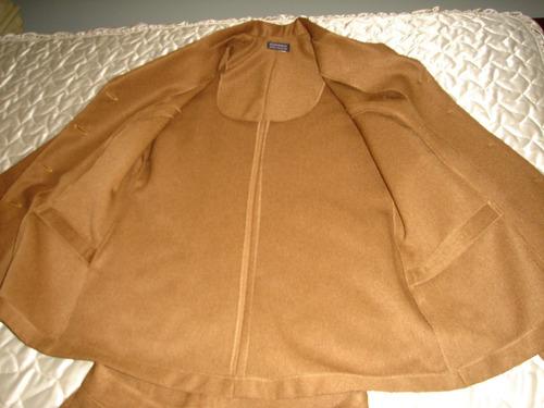 terninho - conjunto feminino - marrom de lã fina tamanho 40